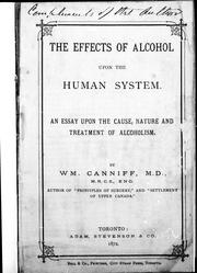 Cover of: The effects of alcohol upon the human system |