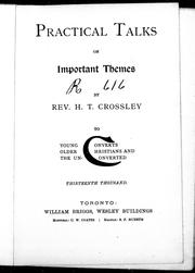 Cover of: Practical talks on important themes | H. T. Crossley