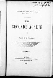 Cover of: Une seconde Acadie
