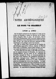 Cover of: Notes archéologiques