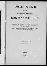 Cover of: Golden jubilee of the Reverend Fathers Dowd and Toupin