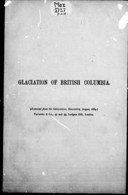 Cover of: Glaciation of high points in the southern interior of British Columbia