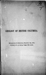 Cover of: Sketch of the geology of British Columbia