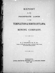 Cover of: Report on the phosphate lands of the Templeton & North Ottawa Mining Company