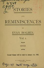 Cover of: Stories and reminiscences. | Evan Holben