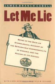 Cover of: Let me lie