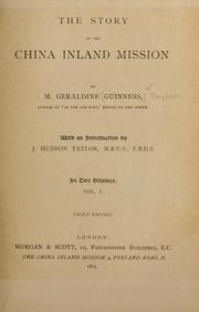 Cover of: The story of the China Inland Mission