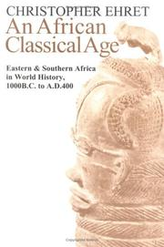Cover of: An African Classical Age | Christopher Ehret