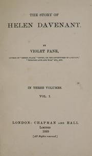 Cover of: The story of Helen Davenant