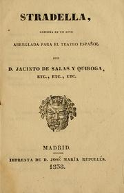 Cover of: Stradella by Jacinto de Salas y Quiroga