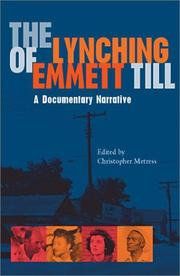 Cover of: The lynching of Emmett Till |