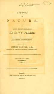Cover of: Études de la nature