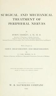 Cover of: Surgical and mechanical treatment of peripheral nerves