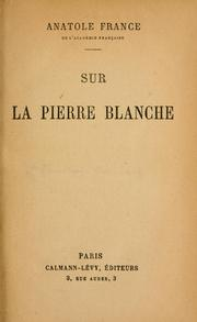 Cover of: Sur la pierre blanche