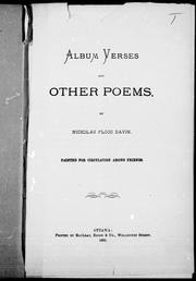 Cover of: Album verses and other poems