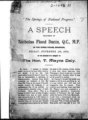 "Cover of: ""The springs of national progress"""