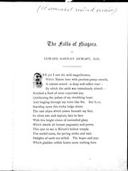 Cover of: The falls of Niagara |
