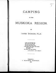 Cover of: Camping in the Muskoka region