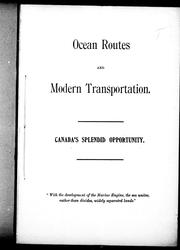 Ocean routes and modern transportation by George H. Dobson