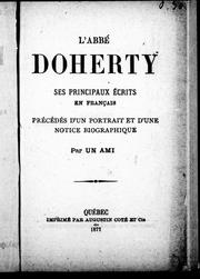 Cover of: L' abbé Doherty