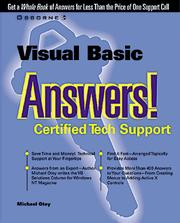Cover of: Visual Basic Answers!