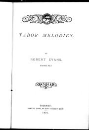 Cover of: Tabor melodies