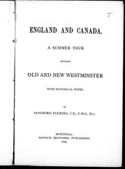 Cover of: England and Canada |