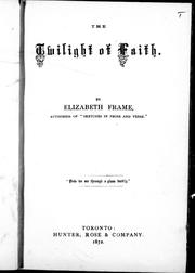 Cover of: The twilight of faith