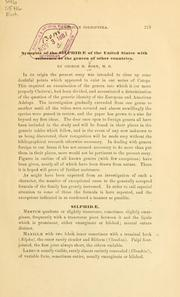 Cover of: Synopsis of the Silphidae of the United States with reference to the genera of other countries