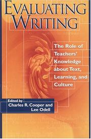 Cover of: Evaluating writing |