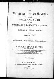 Cover of: The watch adjuster