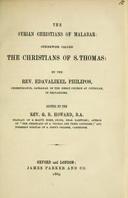 Cover of: The Syrian Christians of Malabar by Edavalikel Philipos