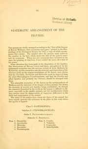 Cover of: Systematic arrangement of the figures