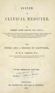 Cover of: A system of clinical medicine