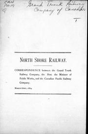 Cover of: North Shore Railway |