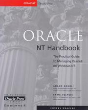 Cover of: Oracle NT handbook | Anand Adkoli