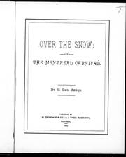 Cover of: Over the snow, or, The Montreal carnival