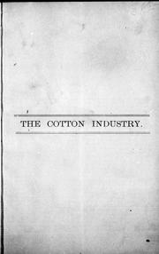 Cover of: The Cotton industry |