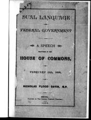 Cover of: Dual language and federal government