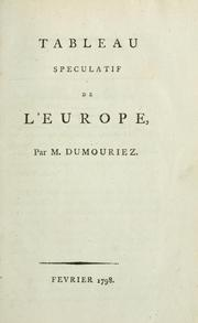 Cover of: Tableau speculatif de l'Europe