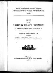 Cover of: Report on the tertiary lignite formation, in the vicinity of the forty-ninth parallel
