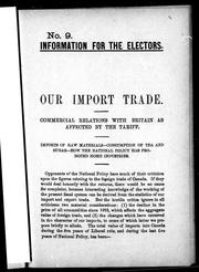 Cover of: Our import trade |