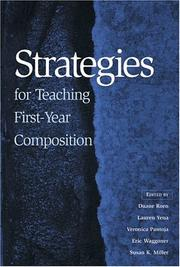 Cover of: Strategies for teaching first-year composition |