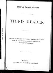 Cover of: Third reader |