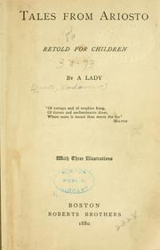 Cover of: Tales from Ariosto retold