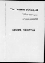 Cover of: Imperial federation |