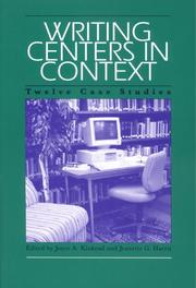 Cover of: Writing Centers in Context |