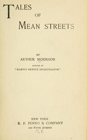 Cover of: Tales of mean streets | Arthur Morrison