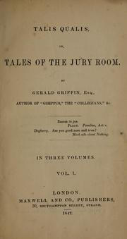 Cover of: Talis qualis, or, Tales of the jury room