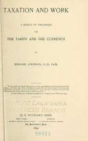 Cover of: Taxation and work